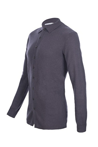 Silk and Cashmere Kazak Gri